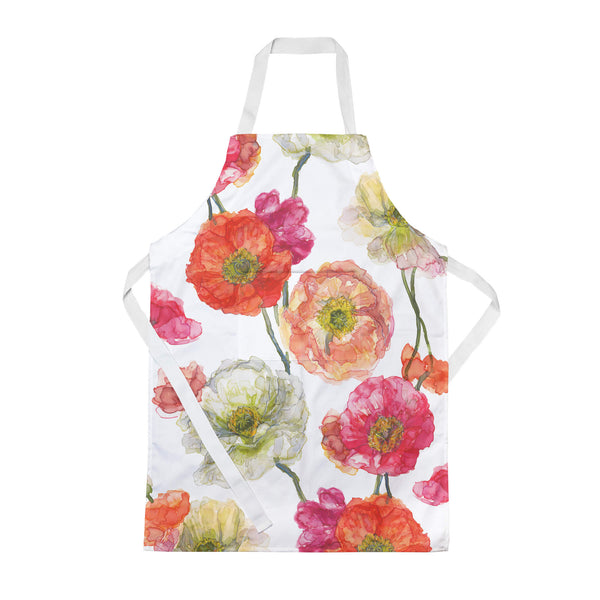 Icelandic Poppies Floral Apron