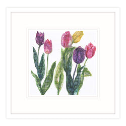 Mixed Tulips Framed Print