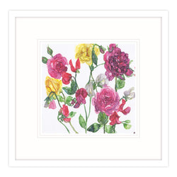 Mixed Roses and Sweet Peas Framed Print