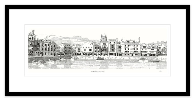 The Boat Float Dartmouth Framed