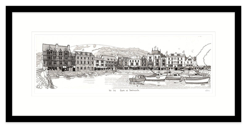 Boats at Dartmouth Framed
