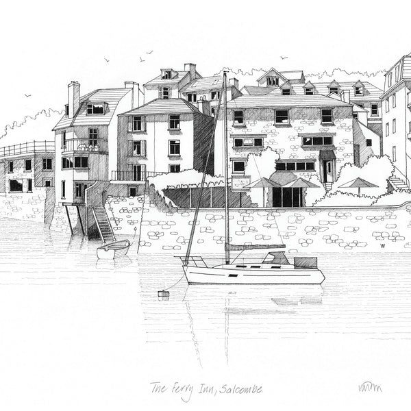 The Ferry Inn, Salcombe Art Print