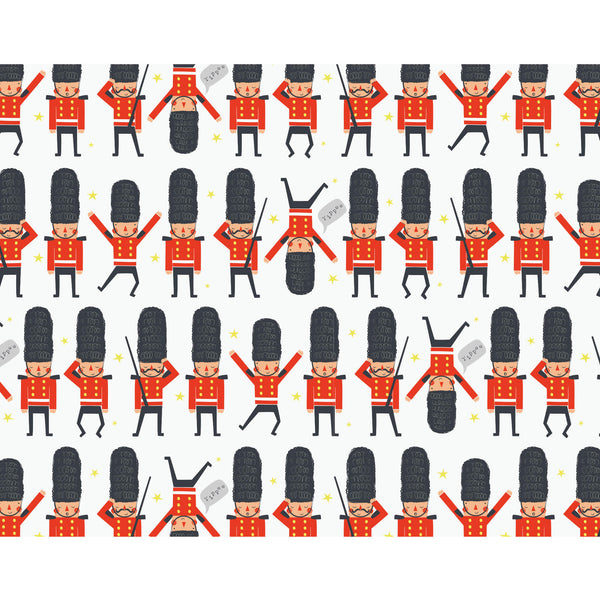 Little Soldiers London Wrapping Paper