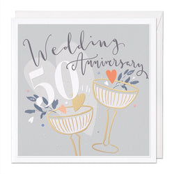 Gold Wedding Luxury Anniversary Card