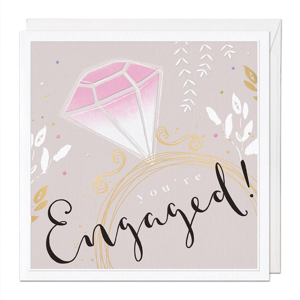 You're Engaged Luxury Engagement Card