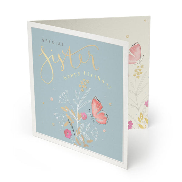 Special Sister Luxury Birthday Card