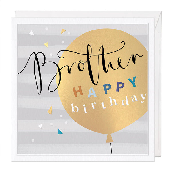 Brother Luxury Birthday Card