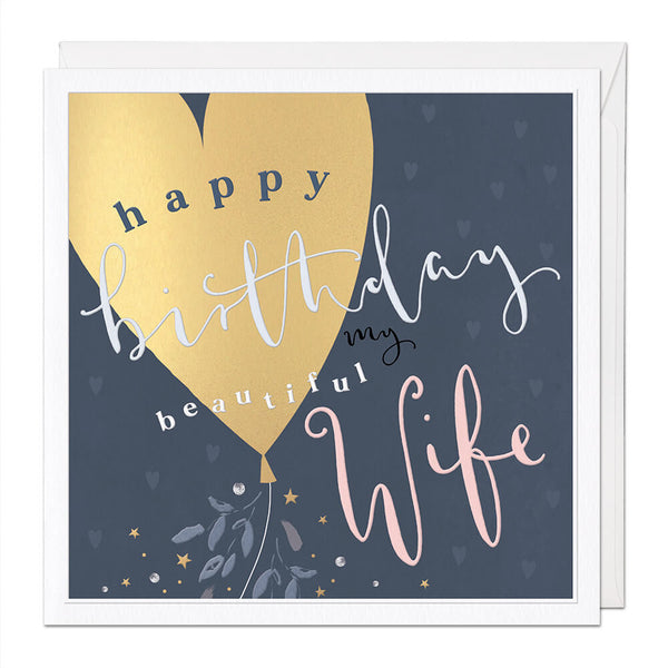 Beautiful Wife Luxury Birthday Card