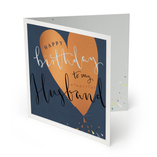 Wonderful Husband Luxury Birthday Card