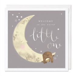 Welcome Little One Luxury Greeting Card