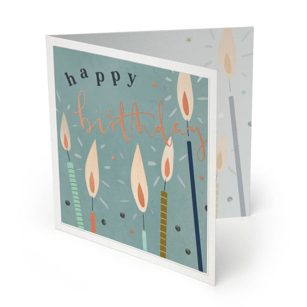 Candles Luxury Birthday Card