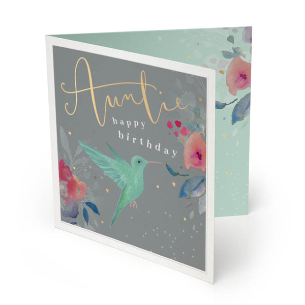 Auntie Luxury Birthday Card