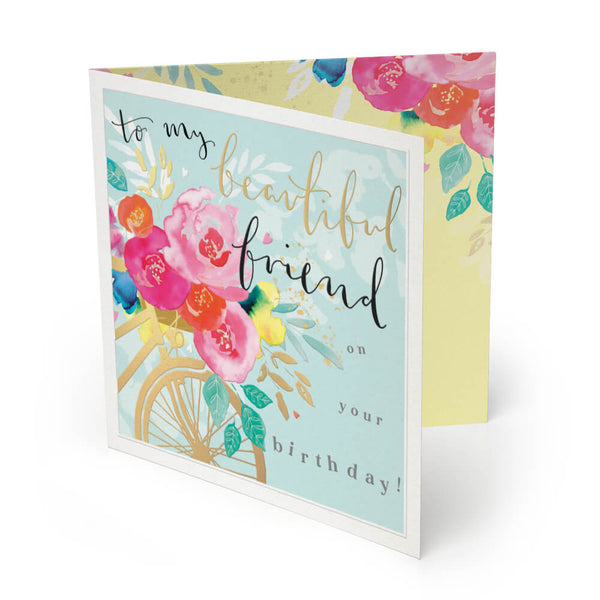 Beautiful Friend Luxury Birthday Card
