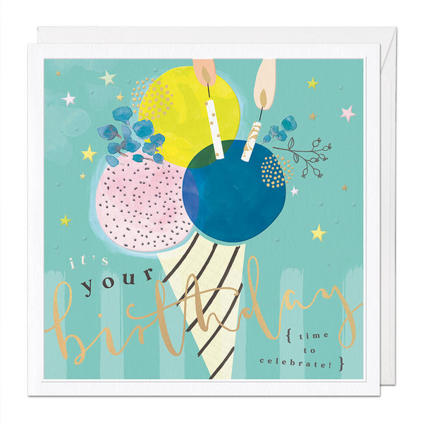 Ice Cream Luxury Birthday Card