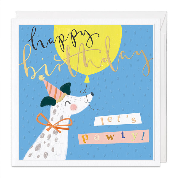 Let's Pawty Luxury Birthday Card