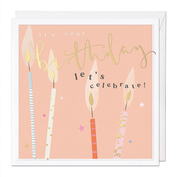 Celebrate Luxury Birthday Card