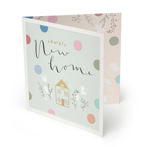 Sparkly New Home Luxury Greeting Card
