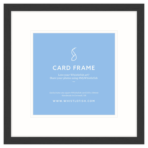 Black Open Grain Card Frame