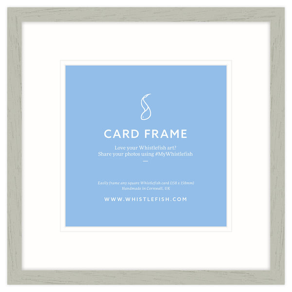 Limed Open Grain Card Frame