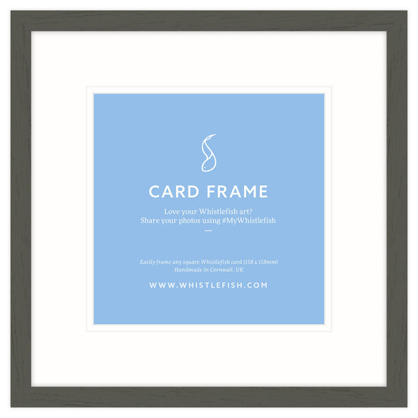 Birch Open Grain Card Frame