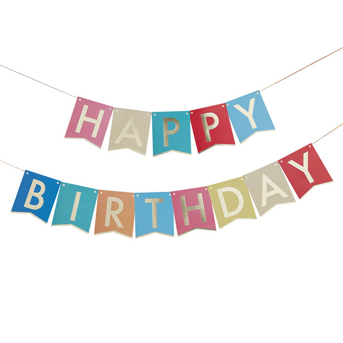Multi-Coloured Happy Birthday Banner Bunting
