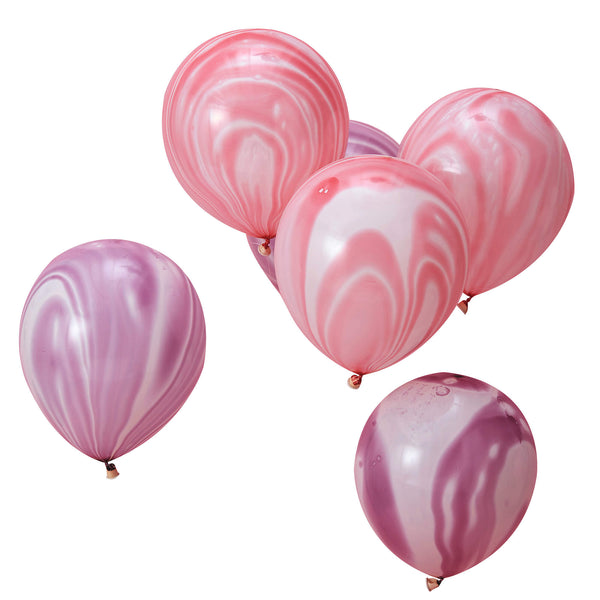 Pink and Purple Marble Balloons