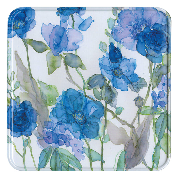 Blue Roses & Phlox Notelet Tin