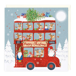 Festive Friends Bus Christmas Card