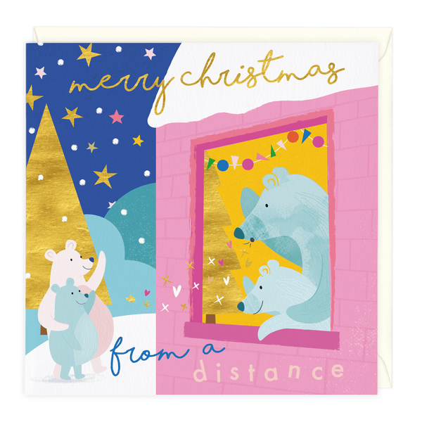 Merry Christmas From A Distance Card