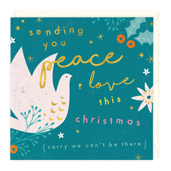 Peace and Love This Christmas Card