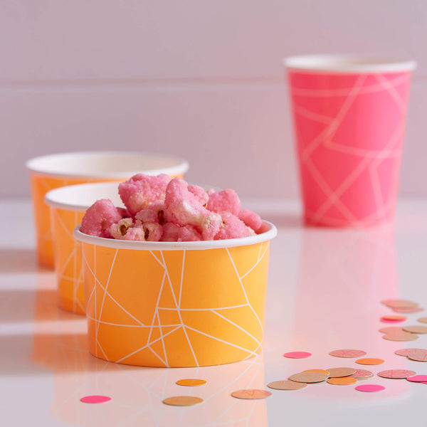 Neon Orange Geometric Treat Tubs
