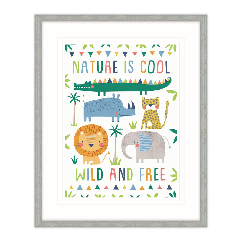 Nature Is Cool Framed Print for Children