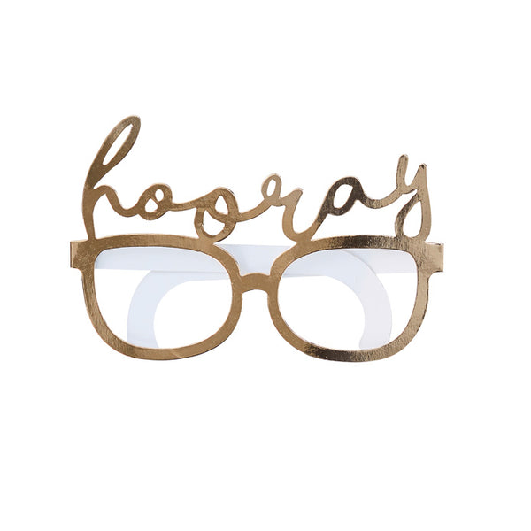 Gold Foiled Hooray Fun Glasses