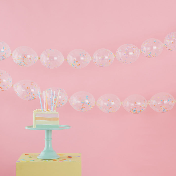 Confetti Balloons Link Garland Decoration