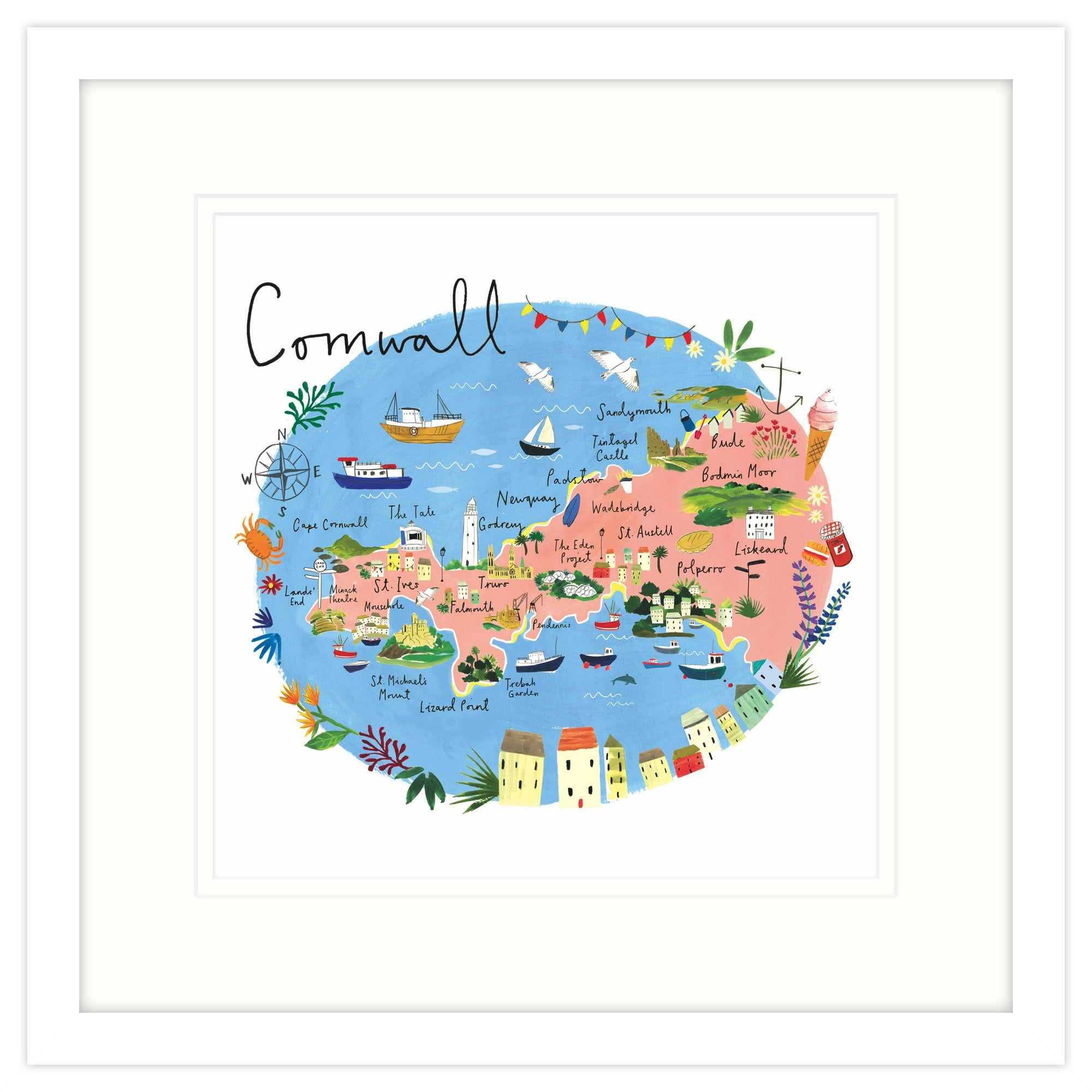 Cornwall Map Framed Print on wales map, stonehenge map, monroe woodbury map, isle of wight map, st. catharines map, stuyvesant map, dorsetshire map, england map, eden project map, united kingdom map, derbyshire map, scotland map, ontario highway 401 map, wychwood map, western highlands map, devon map, quebec map, rondout valley map, carlisle map, orkney islands map,