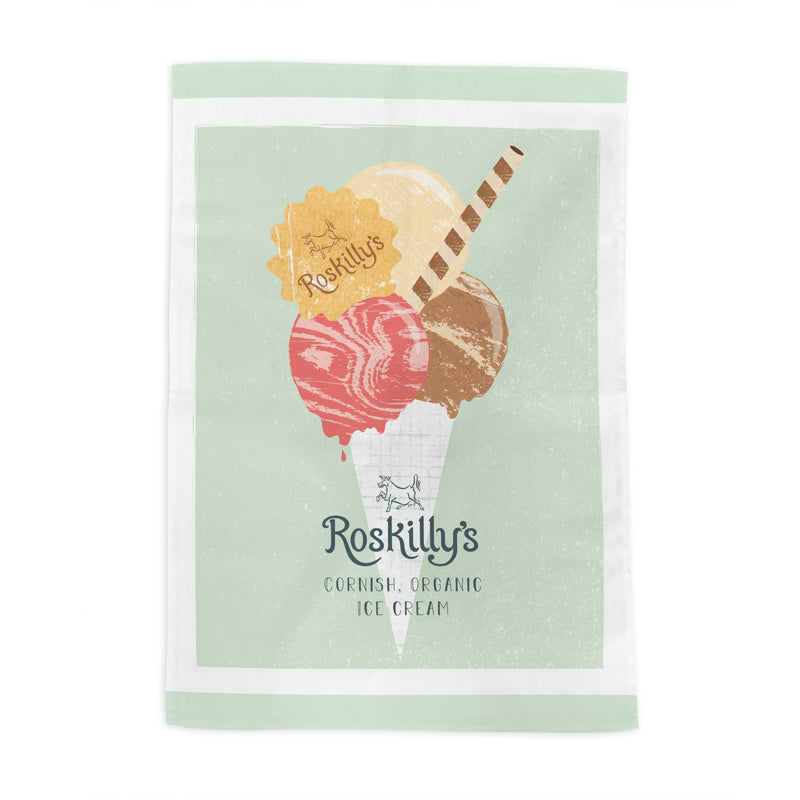 Roskilly's Ice Cream Green Tea Towel