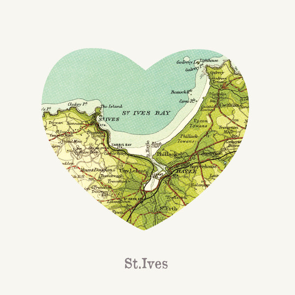 I Love St Ives Art Print