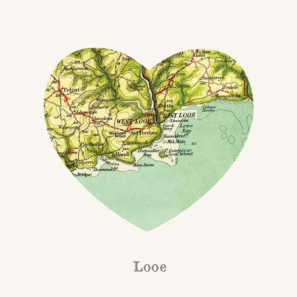 I Love Looe Art Print