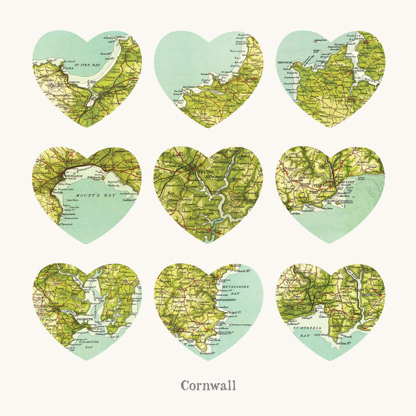 I Love Cornwall Art Print