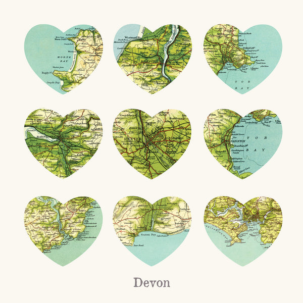I Love Devon Art Print