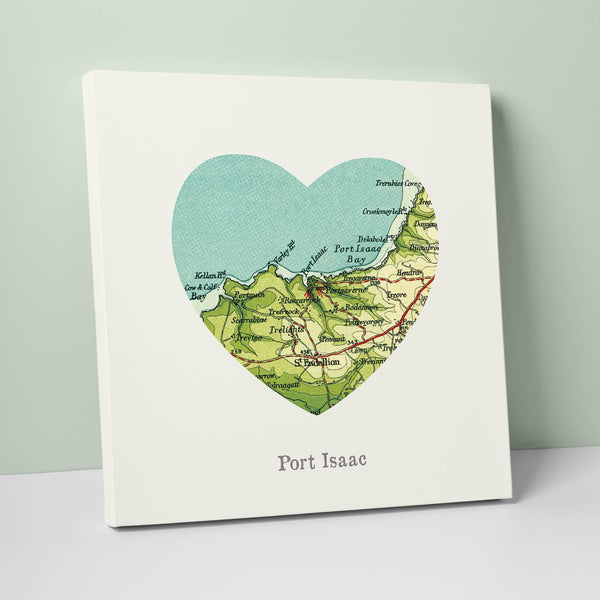 I Love Port Isaac Canvas