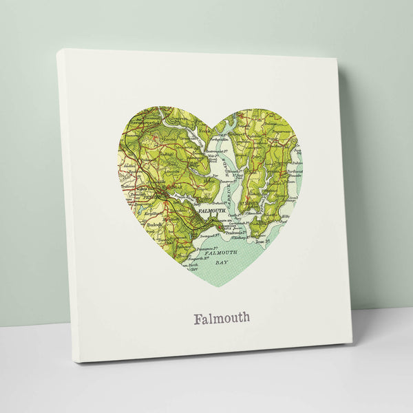 I Love Falmouth Canvas