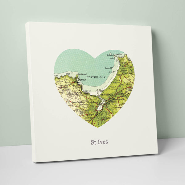 I Love St Ives Canvas