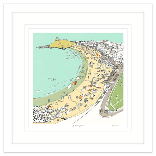 St Ives Summer Framed