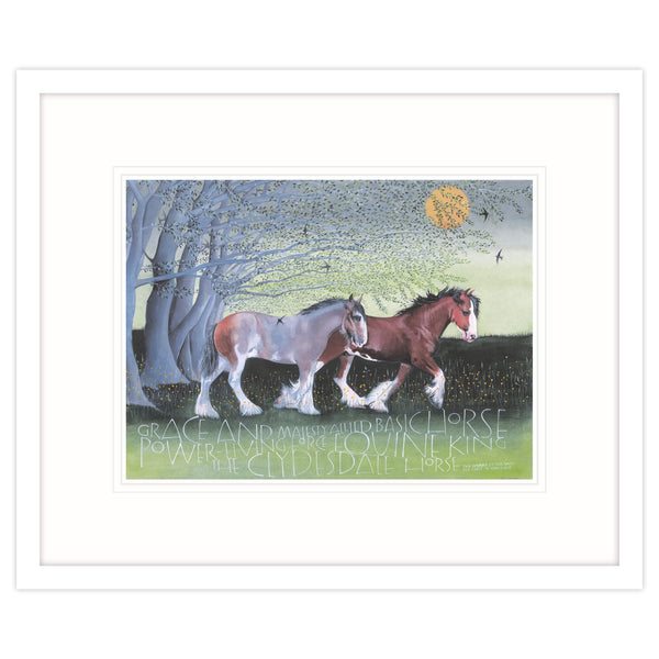 The Clydesdale Horse Equine King Framed Print White