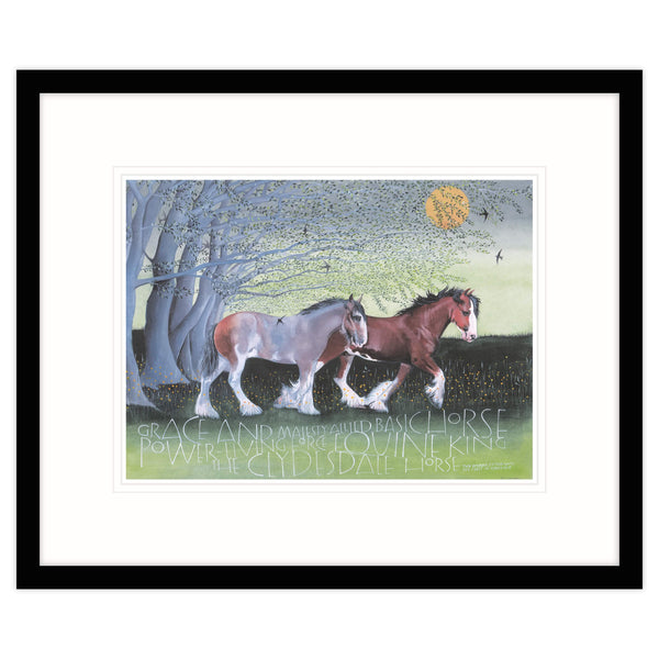 The Clydesdale Horse Equine King Framed Print Black