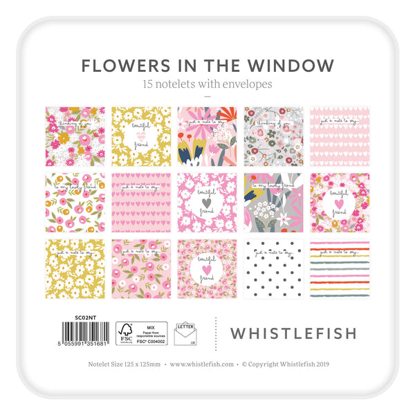 Flowers In The Window Notelet Tin