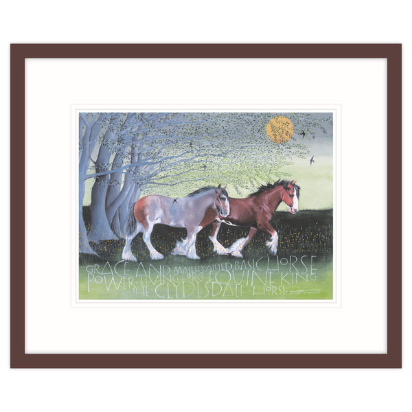 The Clydesdale Horse Equine King Framed Print Brown
