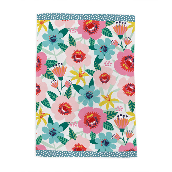 Flower Pop Tea Towel