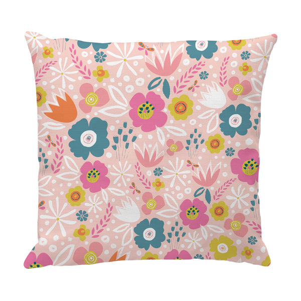 Peach Flowers Cushion